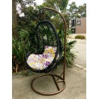 Outdoor Decor Hanging Swinging Egg/Pod Chair #068 -Black