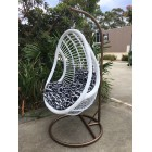 Outdoor Decor Hanging Swinging Egg/Pod Chair #068 -White