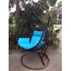 New Large Outdoor Hanging Swinging Egg/Pod Chair 086# -Black