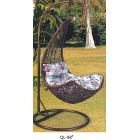 Brand New Outdoor Hanging Swinging Egg/Pod Chair #088- Brown