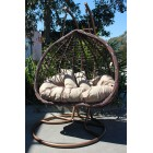New Large Outdoor Hanging Swinging Egg/Pod Chair Double Seat 807#