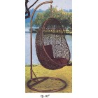 Outdoor Decor Hanging Swinging Egg/Pod Chair #092-Brown