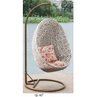 Outdoor Decor Hanging Swinging Egg/Pod Chair #092-White