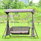 Brand New 3 Seat Outdoor Hanging Swing Chair Rattan Wicker