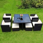 9 Piece Outdoor Dining Setting with Ottoman TC-001