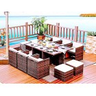 Brand New 11 Piece Outdoor Dining Setting Rattan Wicker TC-003