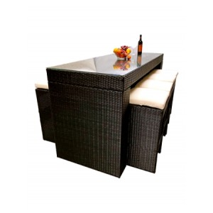 9 Piece Outdoor Bar Setting TC-005 ( One Table & Eight Chairs)