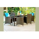 Brand New 7 Piece Outdoor Dining Setting Rattan Wicker TC-008