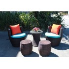 Brand New Outdoor Lounge Setting TC-004 (5 piece - stool)