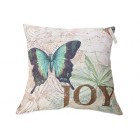 Butterfly brings Joy Cushion Cover (45 x 45cm)