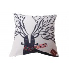 Black Deer Cushion Cover (45 x 45cm)