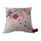 Colour Owl Print Cushion Cover (45 x 45cm)