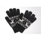 Wool Rich Nordic Deer Print Glove