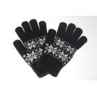 Wool Rich Nordic Snow Flake Print Glove