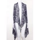 Starry Print Draped Vest