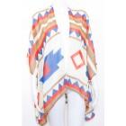 Wild Shapes Print Kaftan Kimono