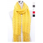 Knitted Scarf with Long Tassel