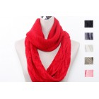 Two Style Knitted Tube Scarf