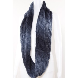 Two Tone Knitted Tube Scarf