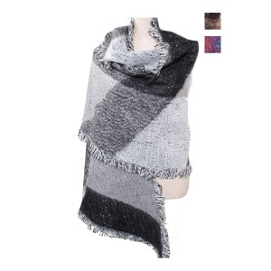 Diamond Print Shape Shawl